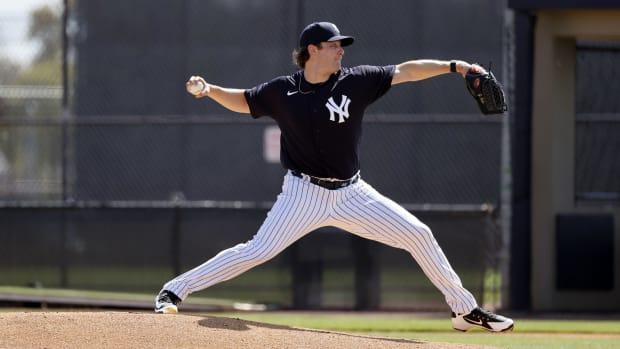 Yankees SP Gerrit Cole live BP Spring Training