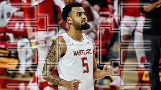 Maryland basketball guard Eric Ayala