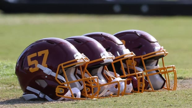 Washington Football Team helmets