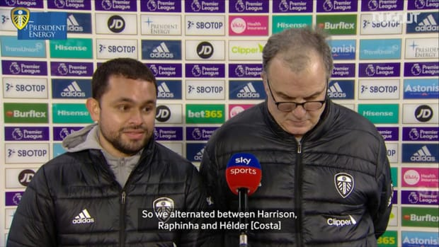 Bielsa on Raphinha's positional change and his contract situation
