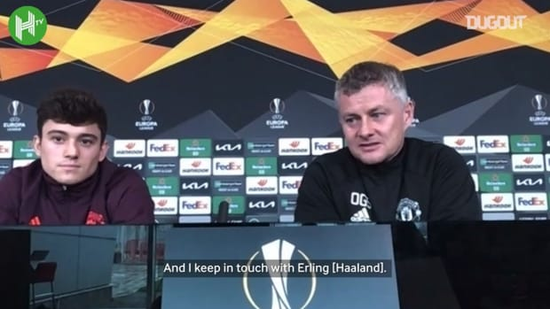 Solskjær: I've kept in touch with Erling Haaland