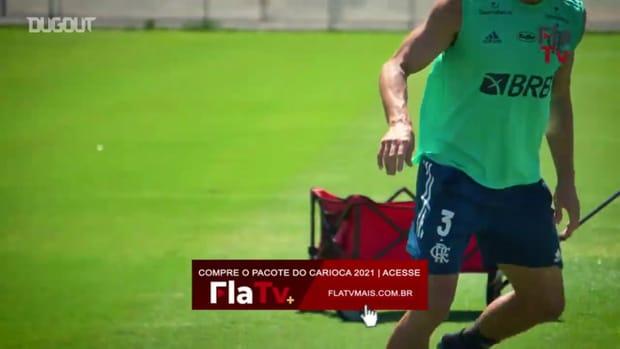 Flamengo's last training session before São Paulo clash