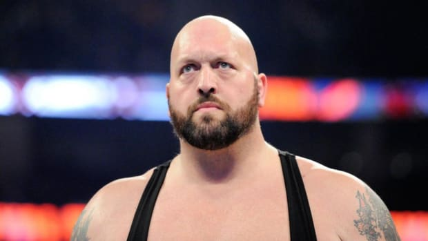 Closeup of wrestler Paul Wight (aka Big Show)