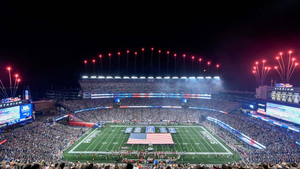 Gillette Stadium during a Patriots game