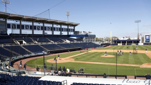 Empty George M. Steinbrenner Field during workouts