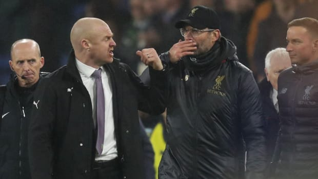 Liverpool manager Klopp and Sean Dyche