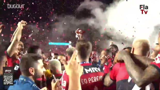Flamengo celebrate with Brasileirão  trophy