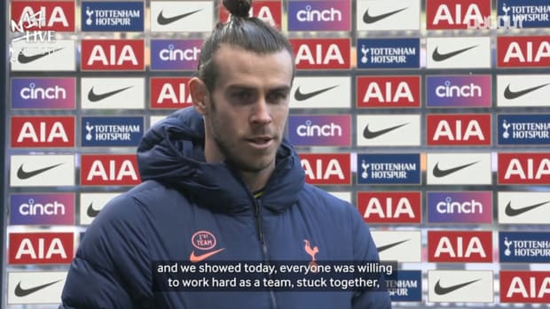 Bale reacts to Burnley brace