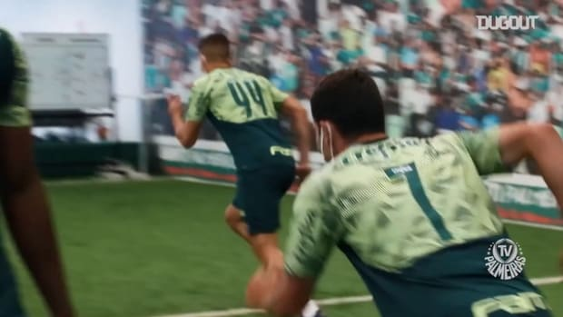 Palmeiras players are back to the training centre