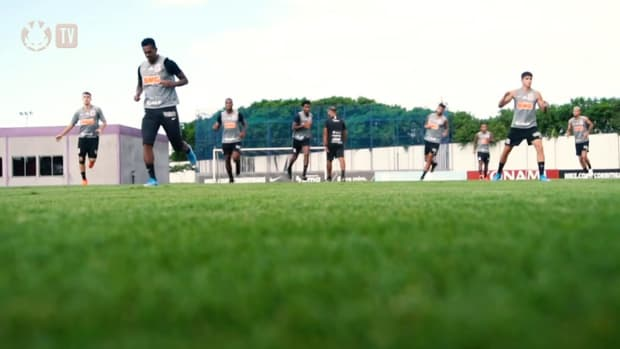 Corinthians' last training session before Palmeiras clash