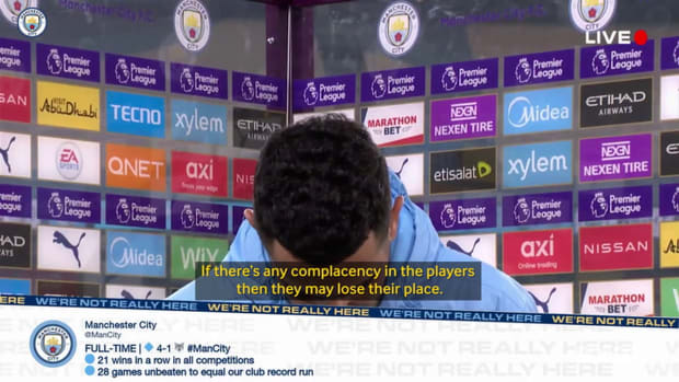 Riyad Mahrez happy with deep Manchester City squad