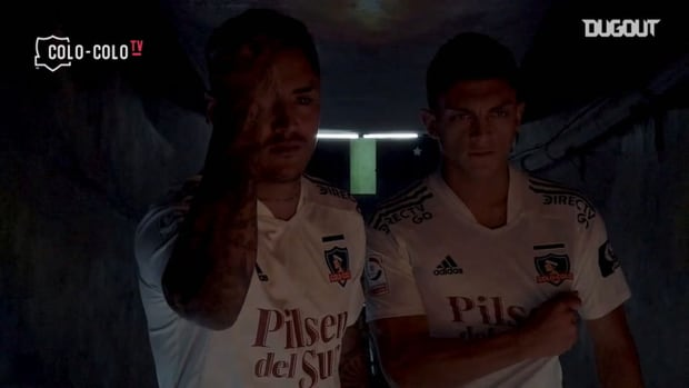 Colo-Colo's new signings Juan Carlos Gaete and Felipe Fritz