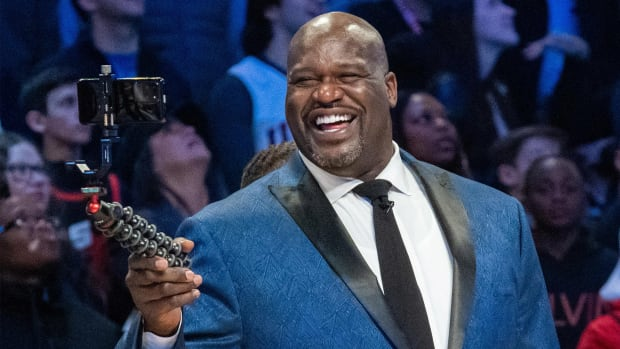 February 15, 2020; Chicago, Illinois, USA; NBA great Shaquille O'Neal during NBA All Star Saturday Night at United Center.