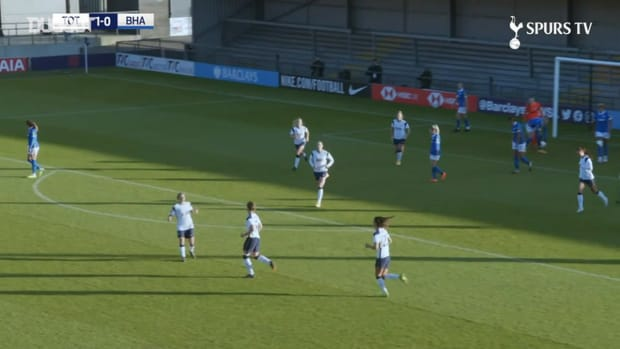 Kerys Harrop's long-range free-kick vs Brighton