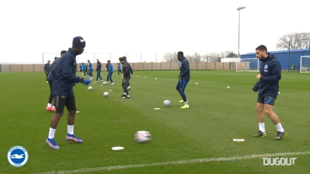 Brighton train ahead of Leicester City clash