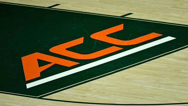 ACC logo at the Watsco Center.