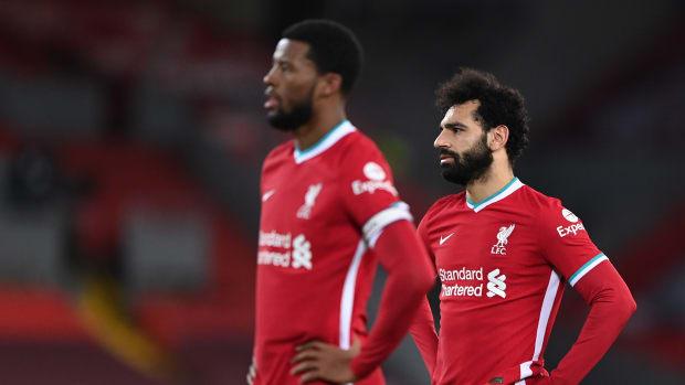 Liverpool Players Mohamed Salah and Georginio Wijnaldum