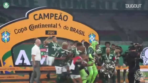Palmeiras celebrate with Brazil Cup trophy