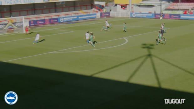 Jodie Brett nets first Brighton goal