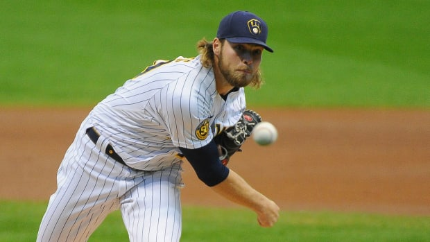Milwaukee Brewers pitcher Corbin Burnes