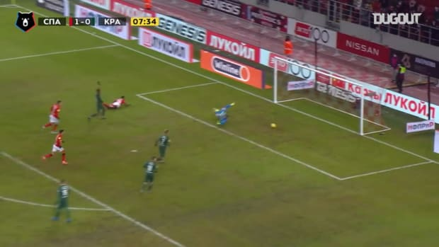 Quincy Promes's debut goal since his return to Spartak