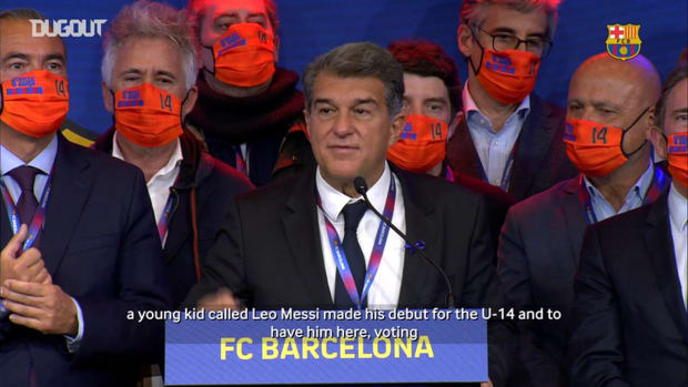 First words of new Barça president Joan Laporta on Leo Messi