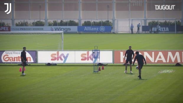 Juventus' last training ahead of clash vs Porto