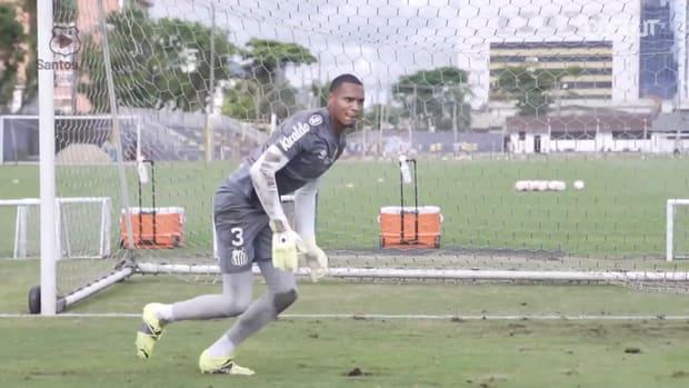 Santos' last training session before 2021 Libertadores debut