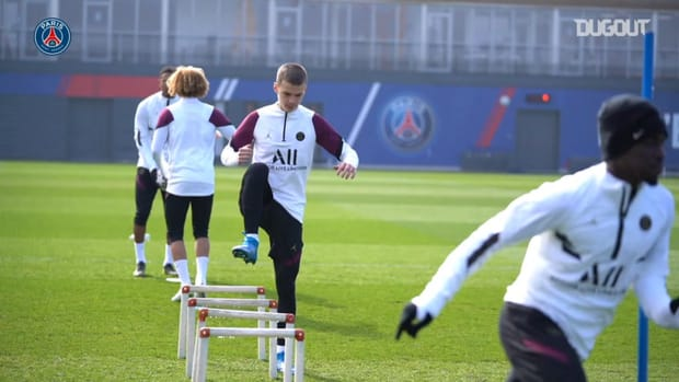 Paris Saint-Germain's last training session before FC Barcelona clash