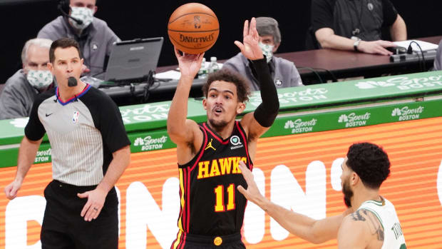 Trae Young of the Atlanta Hawks