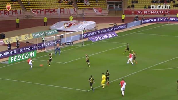 Mounir Obaddi's last goal with Monaco