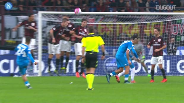 All Lorenzo Insigne's goals against AC Milan