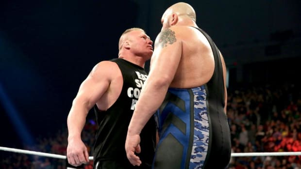 """Brock Lesnar goes toe-to-toe with Paul """"Big Show"""" Wight"""
