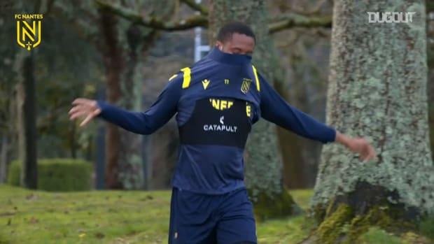 Nantes' last training session before PSG game