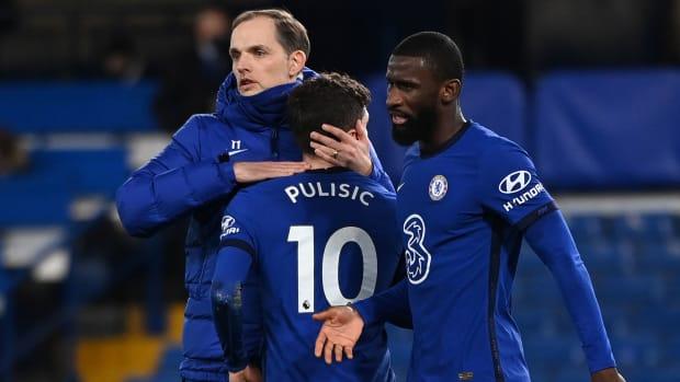 Chelsea manager Thomas Tuchel and Christian Pulisic