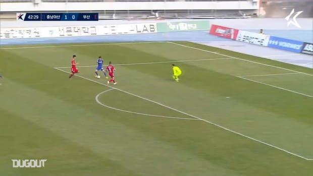 Ryohei Michibuchi's first goals in K League 2