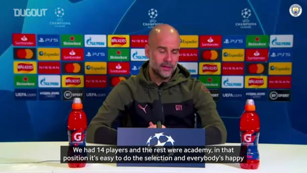Guardiola on Sterling and team selection ahead of Gladbach