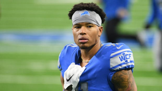 Jan 3, 2021; Detroit, Michigan, USA; Detroit Lions wide receiver Marvin Jones (11) before the game against the Minnesota Vikings at Ford Field.