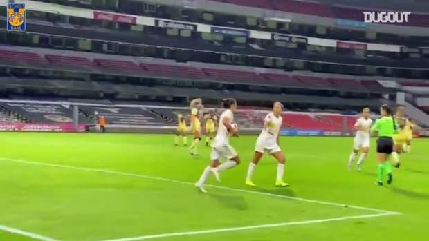 Tigres Femenil's two goals vs América