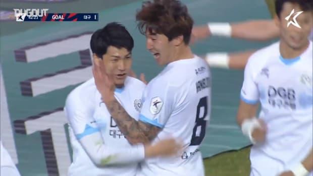 Tsubasa Nishi scores first goal of 2021 K League season