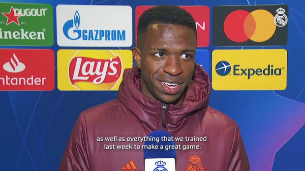 Vinicius Jr. 'We're all happy to go to the quarter-finals'