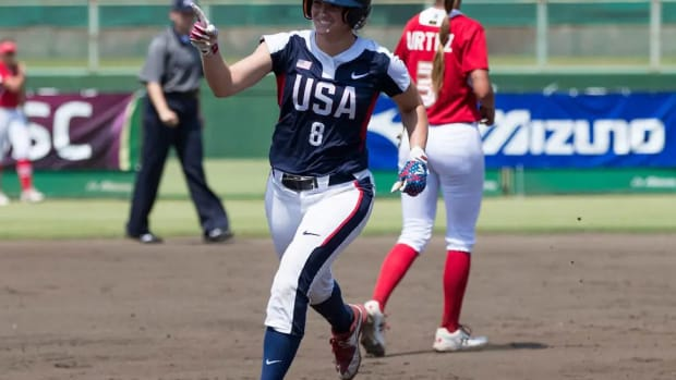Former Alabama softball player Haylie McCleney is an outfielder for Team USA softball.