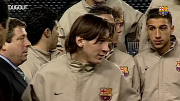 Unseen footage of Lionel Messi in FC Barcelona's youth team