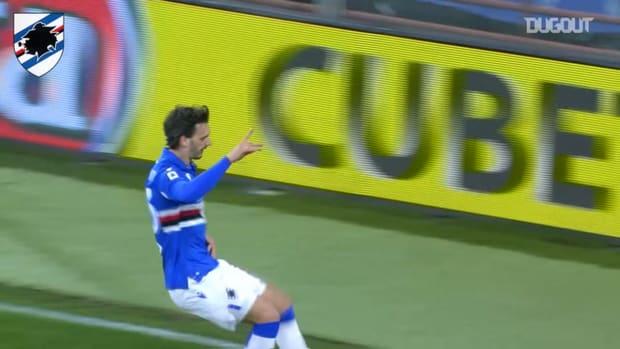 Gabbiadini's first 2020-21 Serie A goal