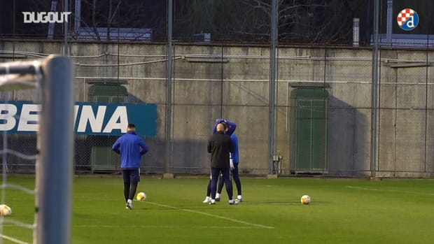 Dinamo Zagreb train ahead of Tottenham return leg