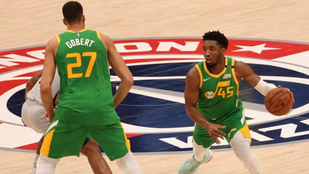 Donovan Mitchell, Rudy Gobert Against Washington Wizards