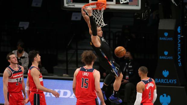 Nets' Blake Griffin dunks vs. Wizards