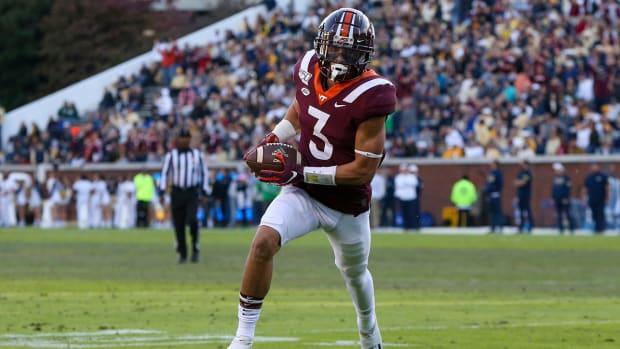 Caleb Farley returns an interception for a touchdown.