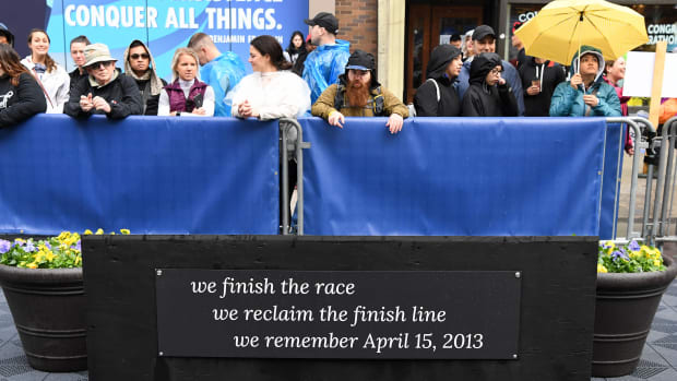 Memorial for the Boston Marathon bombing