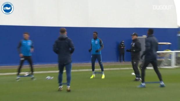 Brighton stars in training over the international break